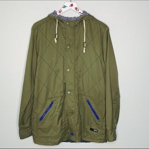 Brooklyn Industries green hooded utility jacket